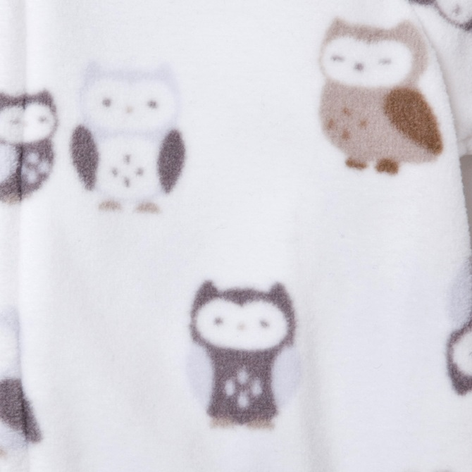 卡特(卡特覆盖物全部)fleece步态覆盖物全部☆白×猫头鹰