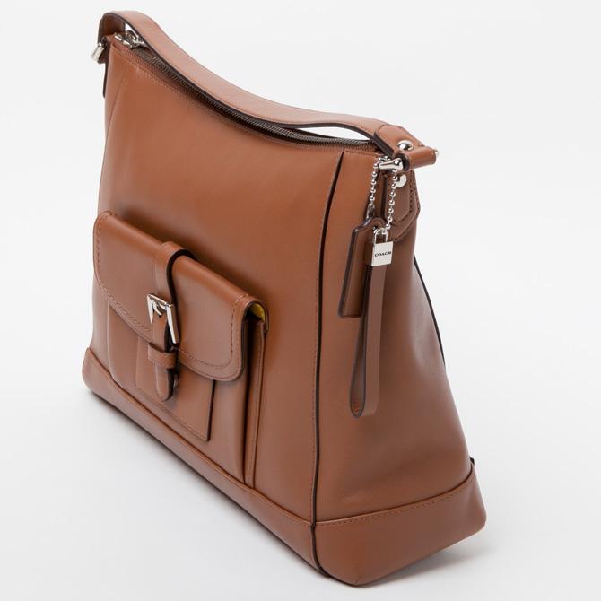 Coach COACH bag (shoulder bag) Charlie leather Hobo shoulder tote bag  handbag sand f29881svsd 4868e548461ec