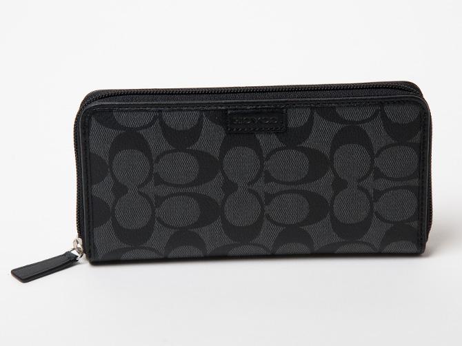 According zip wallet - Black Coach HL2e68jtM
