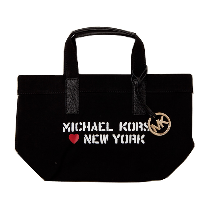 Michael Kors Mini Tote Bag City Sm Ny 35t7mt2t2r Black New York Limited Ling Is Impossible