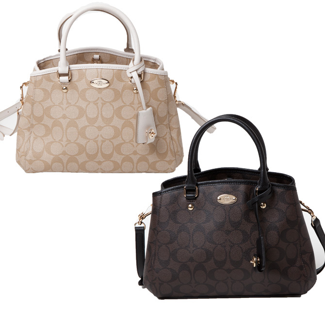 81578d516eec2 Coach COACH bag (2-WAY shoulder bag) luxury signature mini Margot carryall 2 -way bag handbag also f34605
