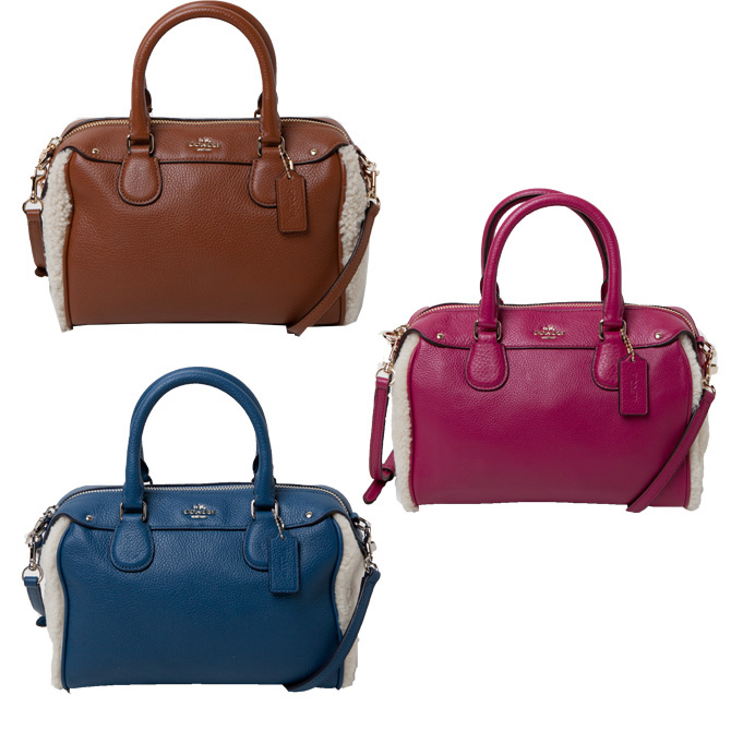 5c840c09e467e Coach COACH bag (shoulder bag) shearing mix pebbled leather Bennett Mini  Satchel bag f36689