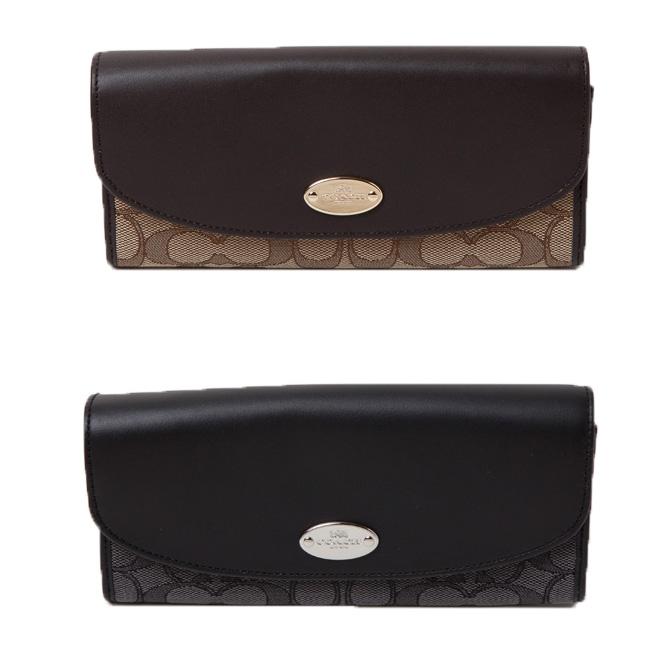 best service 16eb7 75542 Coach COACH accessories (wallets) outline signature slim envelope long  wallet f53538 small wallet