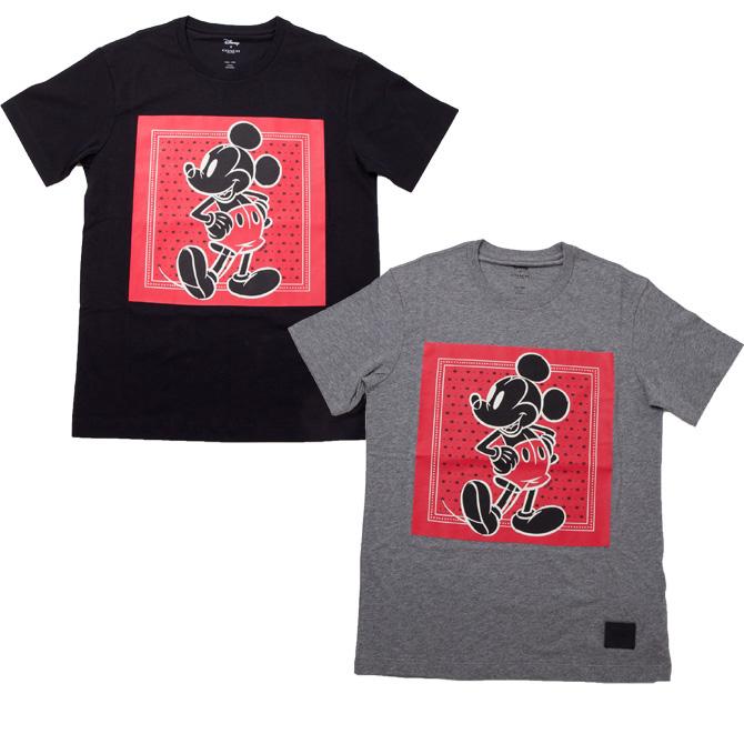 コーチ 小物 COACH コーチ×ディズニー コラボ ミッキーマウス バンダナ柄 Tシャツ XS f59902 ラッピング不可