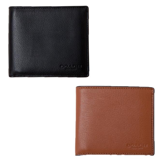 コーチ COACH 小物 財布 折財布  カーフ レザー ダブルビル ウォレット 二つ折り財布 f75084