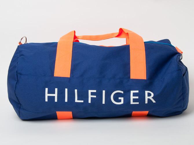 b7537854d319 southcoast  Canvas big bag Duffle Bag Navy   Orange Tommy Hilfiger ...