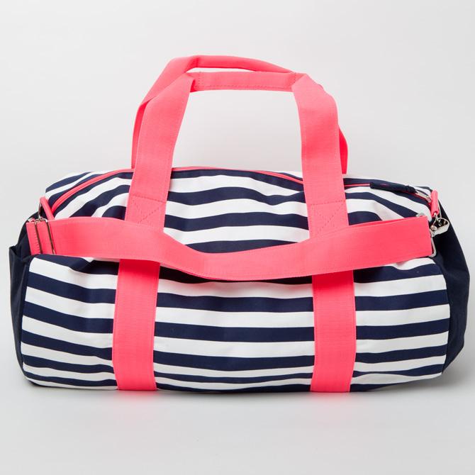 3d066319e0 ... Canvas big drum bag duffel bag pink x Navy border Tommy Hilfiger ...