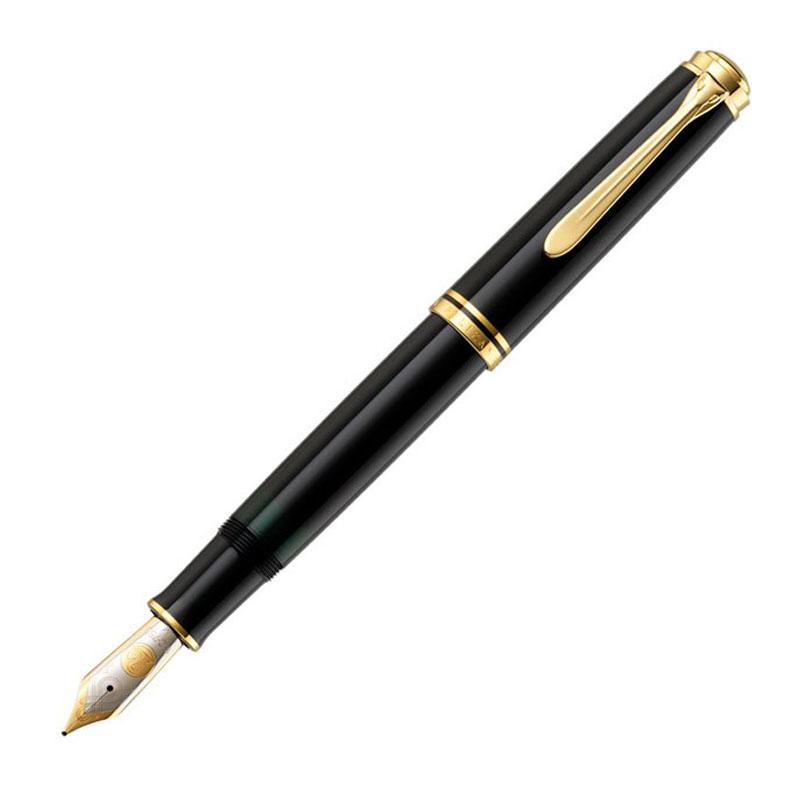 ペリカン Pelikan 万年筆 Souveran スーべレーン M1000 ブラック 黒 ロジウム装飾18金ペン先 吸入式 ペン先:BB 1031001BB