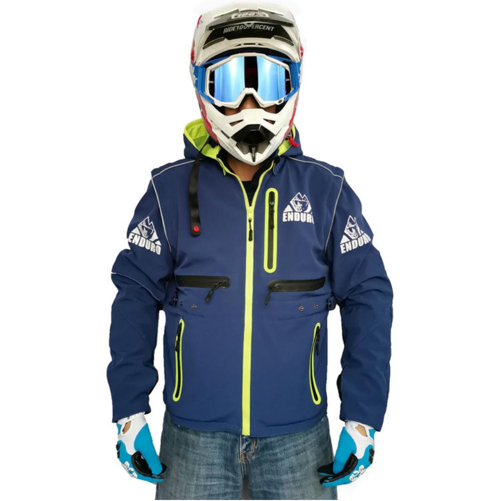 エンデューロジャケット ブルー L オフロード モトクロス 林道ツーリング アタックツーリング ベスト ベンチレーション パーカー