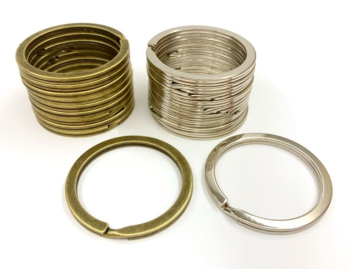 平ring35 平二重リング 直径35mm 10個入り 線幅2.8mm 激安通販専門店 評価 鉄製 大 キーリング 厚み2.4mm 平押し二重リング 外径35mm キーホルダー金具 金具 キーホルダー