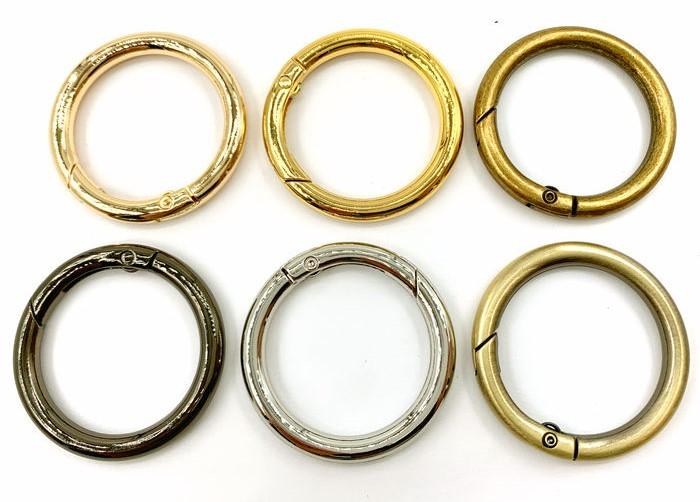 可動式リング 直径42mm 4個入り 内径32mm 高級 線径5mm 開閉輪金具 キーホルダー金具 カラビナ リング 大決算セール 丸リング
