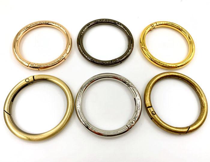可動式リング 直径48mm 4個入り 内径38mm 線径5mm カラビナ 開閉輪金具 丸リング 訳あり商品 リング キーホルダー金具 格安 価格でご提供いたします