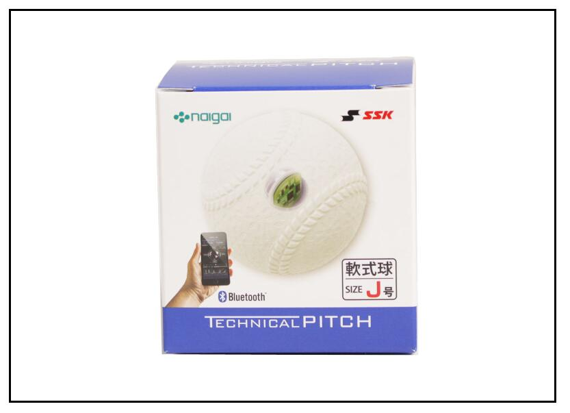 エスエスケイ SSK 軟式 J号テクニカルピッチTECHNICALPITCH 投球データ 解析軟式 野球 ボール Bluetooth対応ジュニア 少年野球軟式 J号 TP003J4月発売