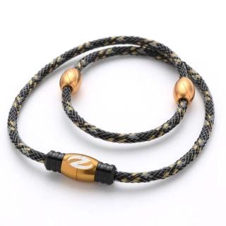 【ザオラル】 ZAORAL リカバリー ネックレス医療機器 磁気 ネックレス男女兼用 健康ネックレスブラック/ゴールド