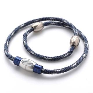 【ザオラル】 ZAORAL リカバリー ネックレス医療機器 磁気 ネックレス男女兼用 健康ネックレスネイビー/シルバー