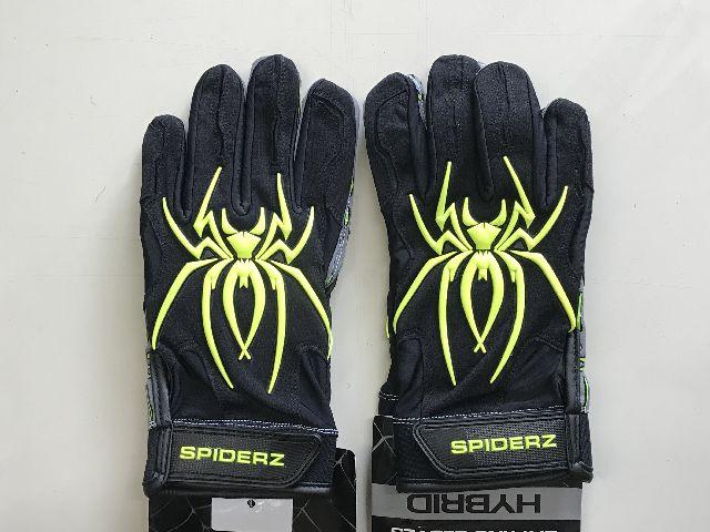 SPIDERZスパイダーズ 野球 バッティング手袋 バッティンググローブ 両手組 ハイブリッド SPIDERZ HYBRID日本未発売!アメリカ直輸入 限定品ブラック