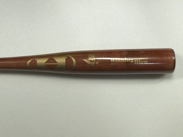 HI-GOLD ハイゴールド硬式木製バットUSAメイプルウィニングブロー レッドブラウン BF Jロゴマーク入り WBT10411 試合用バット