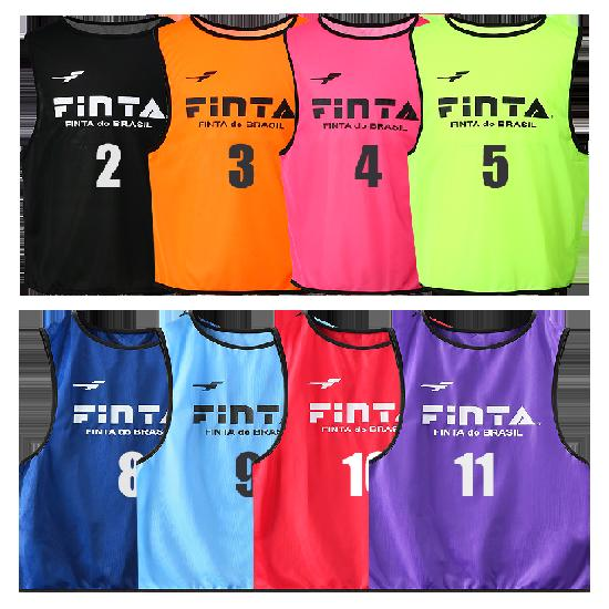 フィンタ サッカー 信用 ビブス番号2~11 信憑 10枚セット 10枚セットゼッケン FINTA FT6513