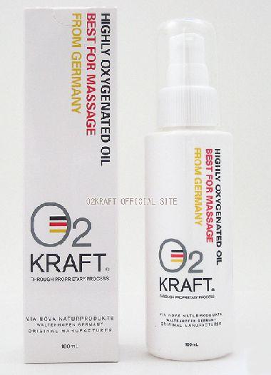 【smtb-k】【kb】塗る酸素 ! 酸素オイル O2 KRAF T 100ml 3本セット高濃度 酸素 マッサージオイル 100ml 3本セットO2クラフト 100ml (オーツークラフト)芸能人 御用達 ドイツ製