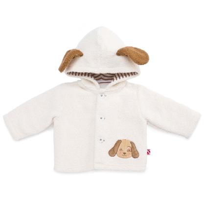 Bunnies By The Bay日本正規代理店skipitもこもこ耳付きフリースジャケット☆ベージュ0-3M/3-6M(新生児 出産祝い ベビー服 シェルパ いぬ 男の子 女の子 クリーム)