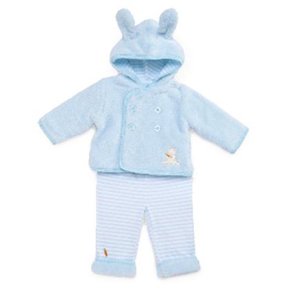 Bunnies By The Bay バニーズバイザベイもこもこジャケットとパンツ2点セット☆0-3Mうさぎ・bud・ブルー(新生児 出産祝い ベビー服)【autumn_D1810】
