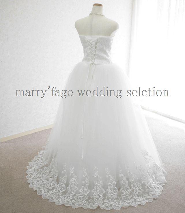 ウェディングドレス:プリンセス《編み上げ》A-005