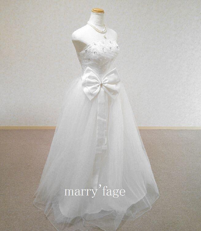 Bigリボン&ビジュー ウェディングドレス No.155