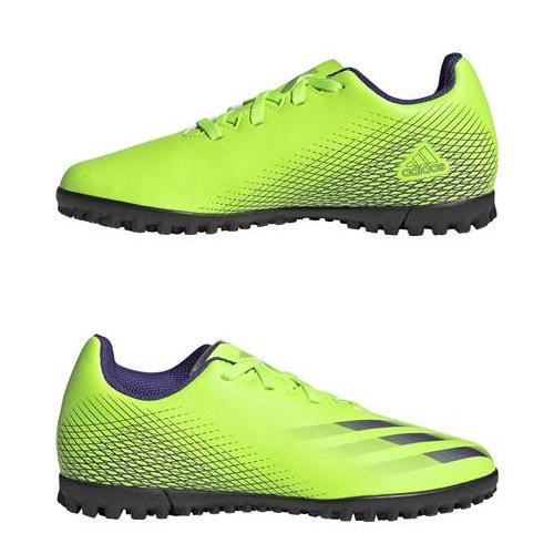 エックス ゴースト.4 TF J アディダス adidas ad2011 シグナルグリーン×エナジーインク×シグナルグリーン EG8229 最新アイテム トレシュー ジュニアトレーニングシューズ 爆安