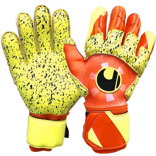ダイナミックインパルス スーパーグリップ リフレックス360° 1011182-01 キーパーグローブ 高級な 特価キャンペーン ウールシュポルト ダイナミックオレンジ×フローイエロー キーパー手袋 uhlsport