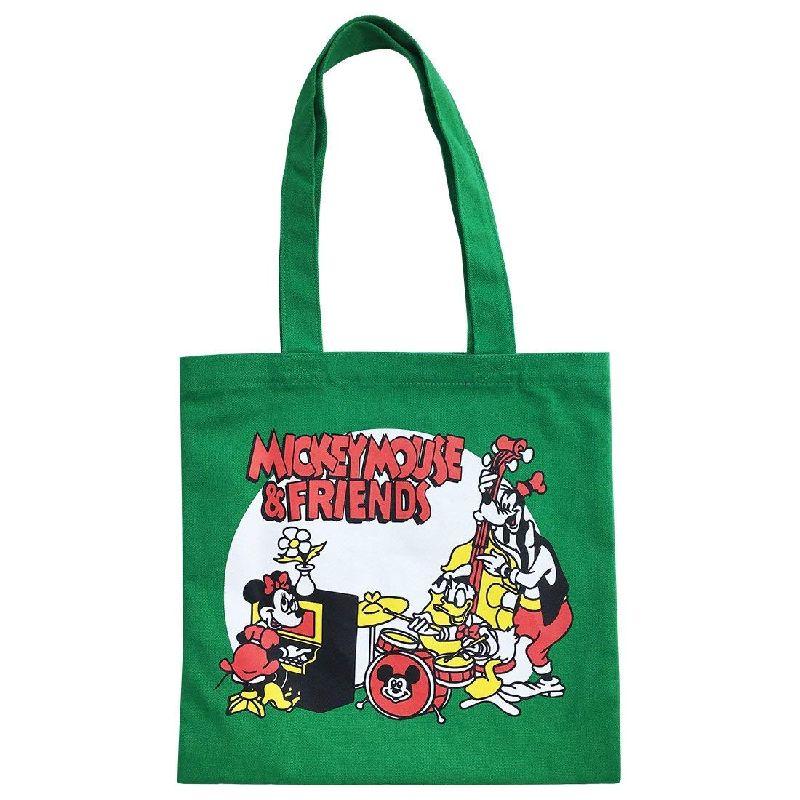 ヴィンテージ風キャラクターアート NOSTALGICA 5%OFF ノスタルジカ の カラートートバッグ プレゼントとしても最適です APDS3555N ディズニー バンド オンライン限定商品 Disney 限定商品
