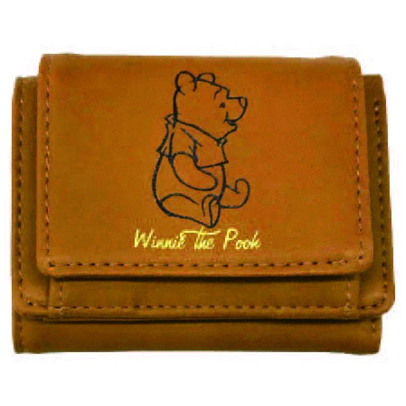 値下げ ディズニーキャラクター プーさんの三つ折り財布ちょっとしたプレゼントとしても最適です 限定商品発売元スモール プラネット APDS3769EM 三折財布プーさん ディズニー Disney 別倉庫からの配送