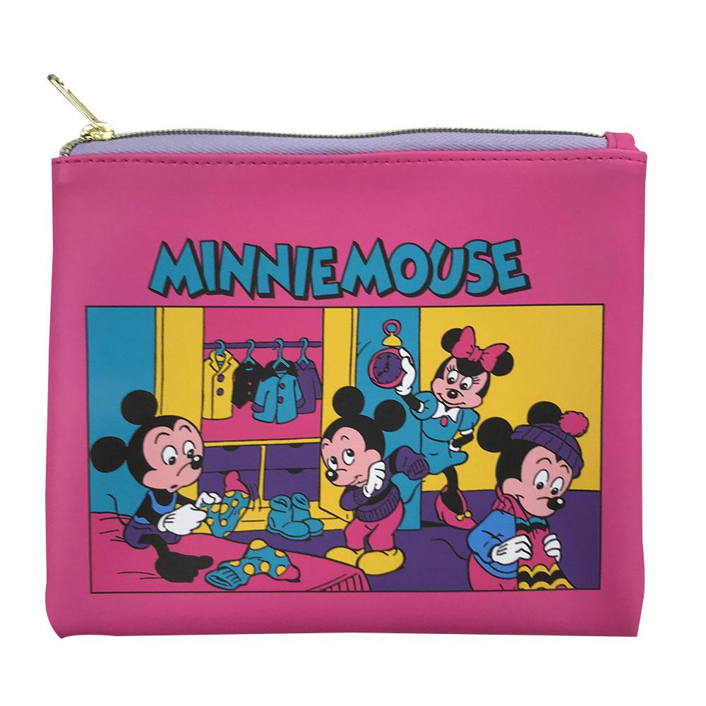 誕生日プレゼント ミニーマウス 朝の支度 10%OFF フラットポーチ ディズニー Disney APDS5101