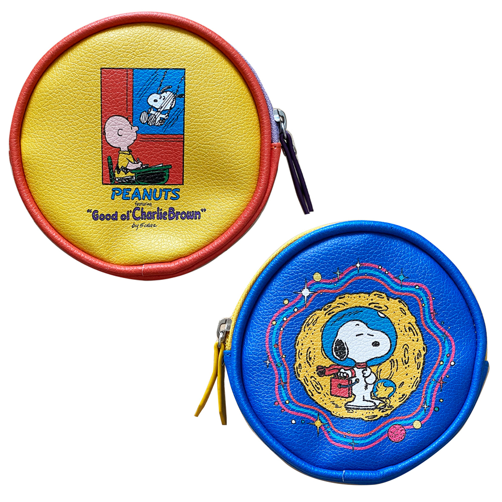NOSTALGICA PEANUTS 店内全品対象 ピーナッツ 迅速な対応で商品をお届け致します ノスタルジカ コミック 円形 SNAP3491N_SNAP3533N コスメティックポーチ スペース