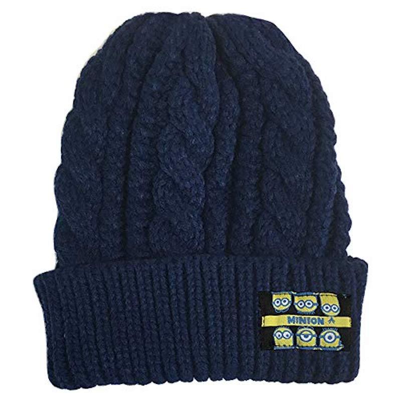 寒い季節にぴったり MINIONS モデル着用 注目アイテム ミニオンズ ニットキャップ MNAP367 ミンナNV 公式サイト