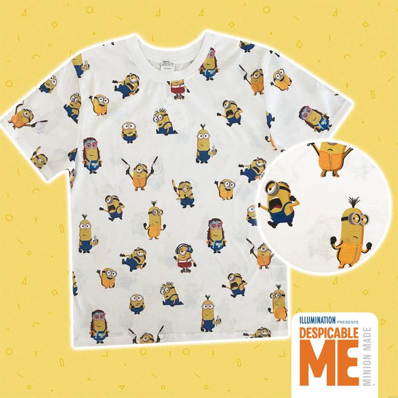 人気の総柄Tシャツが登場 希望者のみラッピング無料 SALE 30%OFF MINIONS 激安挑戦中 ミニオンズ MNAP977_MNAP978 パターン Tシャツ コスチューム