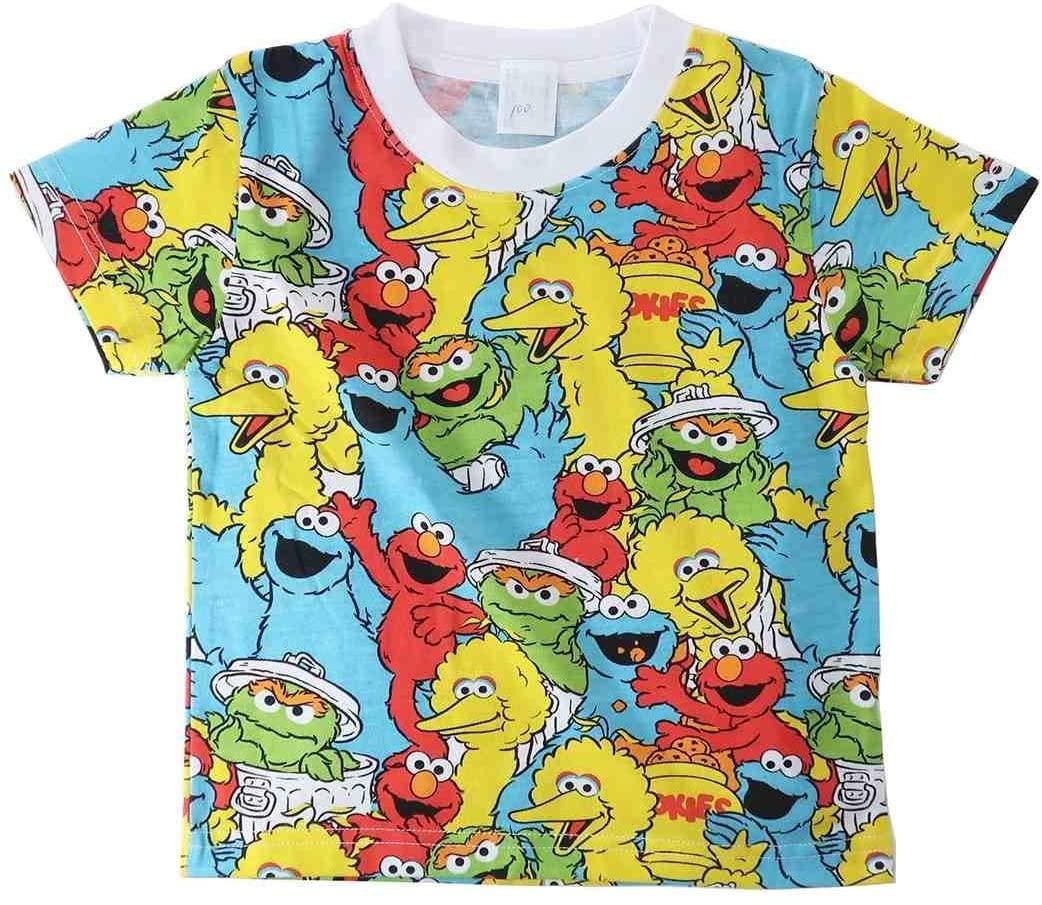 注目商品SESAME STREET (訳ありセール 格安) セサミストリート キッズTシャツ入荷 SALE 30%OFF キッズ SESAME Tシャツ 売却 総柄