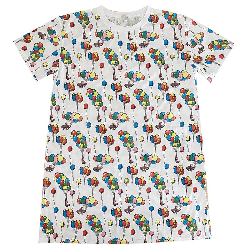 人気の総柄Tシャツにロングサイズが登場 SALE 30%OFF おさるのジョージ 風船 CGCAP271 パターン Tシャツ 低廉 ロング 送料無料 激安 お買い得 キ゛フト