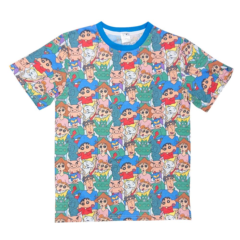 注目商品クレヨンしんちゃん 激安特価品 Tシャツ入荷 お金を節約 SALE 30%OFF Tシャツ 集合 クレヨンしんちゃん 総柄