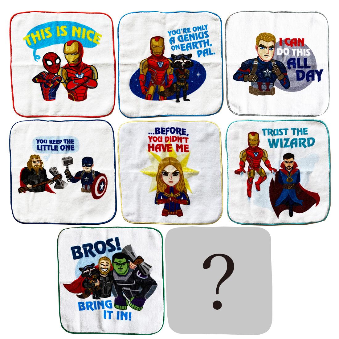 マーベル 新着セール アベンジャーズ タオルコレクションBOX 超目玉 MARVEL ハンドタオルコレクション 全8種入 BOX エンドゲーム