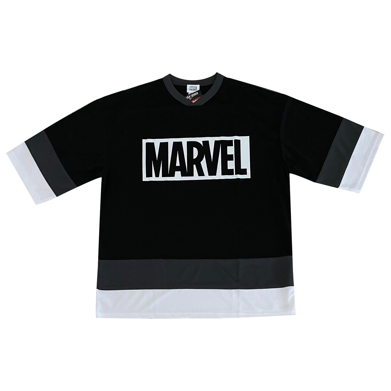 気質アップ KANGOL SPORT MARVEL タイアップ トレンドのビッグシルエットTシャツ SALE ドライホッケーTシャツ SPORTS 出荷 BOXロゴ SPKG3480_SPKG3483 MARVEL× 30%OFF