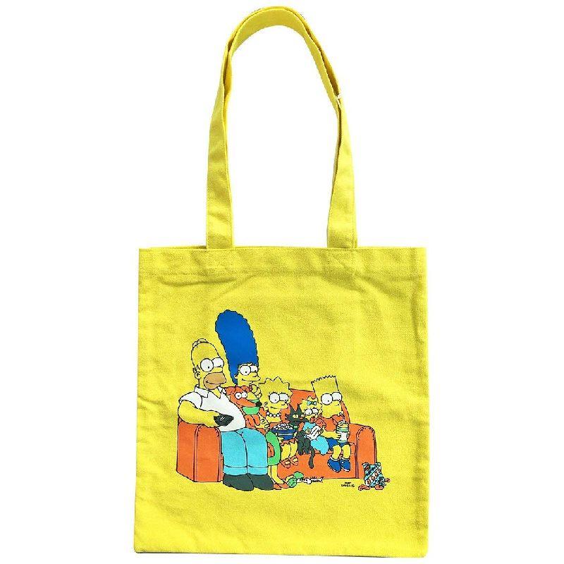 大人気 The Simpsons シンプソンズ カラートートバッグプレゼントとしても最適です SSAP493 世界の人気ブランド Kiitos発売元スモール ザ カラートートバッグ プラネット ファミリー キャラクター イエロー