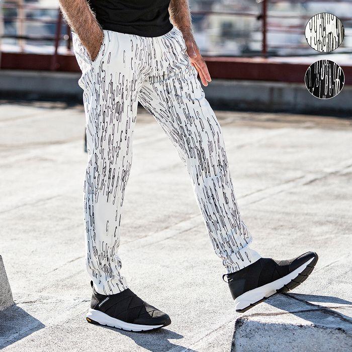 有名な LEON 4月号掲載 1PIU1UGUALE3 RELAX ウノピゥウノウグァーレトレ 4WAY 総柄 グラフィック スラックス パンツ メンズ おしゃれ ボトムス 早割クーポン ズボン かっこいい リラックス ウノピュウ 部屋着 ウェア セットアップ ブランド