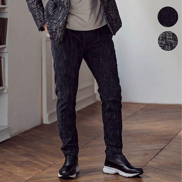 1PIU1UGUALE3 RELAX ウノピゥウノウグァーレトレ ジャガード スラックス メンズ パンツ ボトムス セットアップ スーツ かっこいい おしゃれ ブランド ウノピュウ