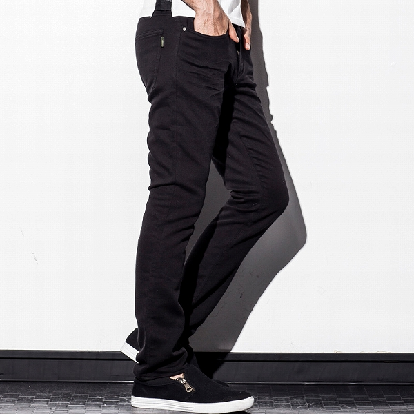 AKM Contemporary (contemporary akayemcon) color joggdenimcihua machining tapered pants (Navy/Black)
