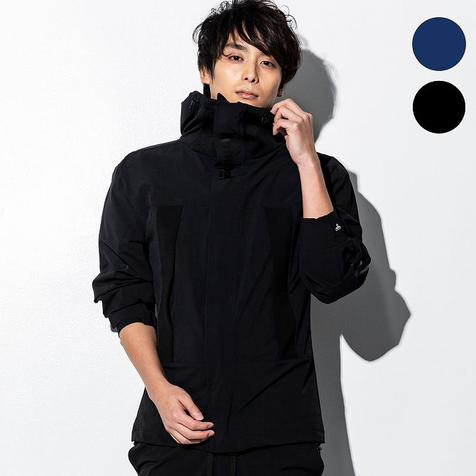hummel(ヒュンメル) ストレッチマウンテンジャケット(ネイビー/ブラック)