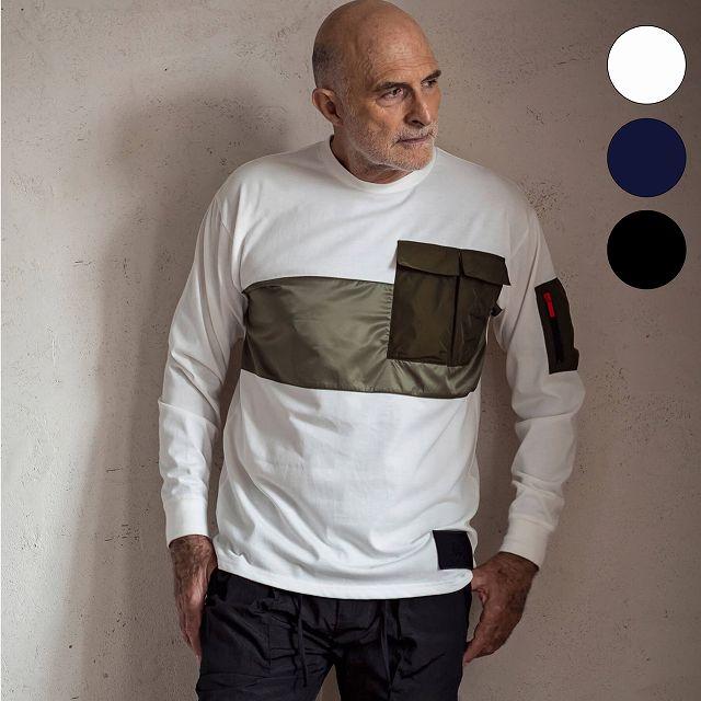 Kappa カッパ ポケット ロング Tシャツ メンズ トップス ロンT 長袖 おしゃれ かっこいい ブランド:SPACCIO
