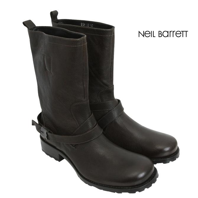 Neil Barrett ニールバレット ベルトロングエンジニアブーツ ダークブラウンメンズ B8H93 9548 124メンズ メンズファッション ブランド訳あり商品返品不可7g6bfy