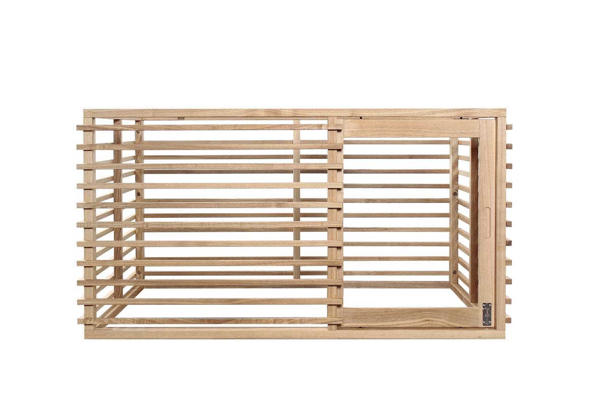 ワンケージ LLサイズ Wan cage DBRダークブラウン NAナチュラル WHホワイト 室内用 天然木のペット用ケージ W1350xD1080xH720 36kg 開閉スムーズ引き戸 【メーカー直送品】