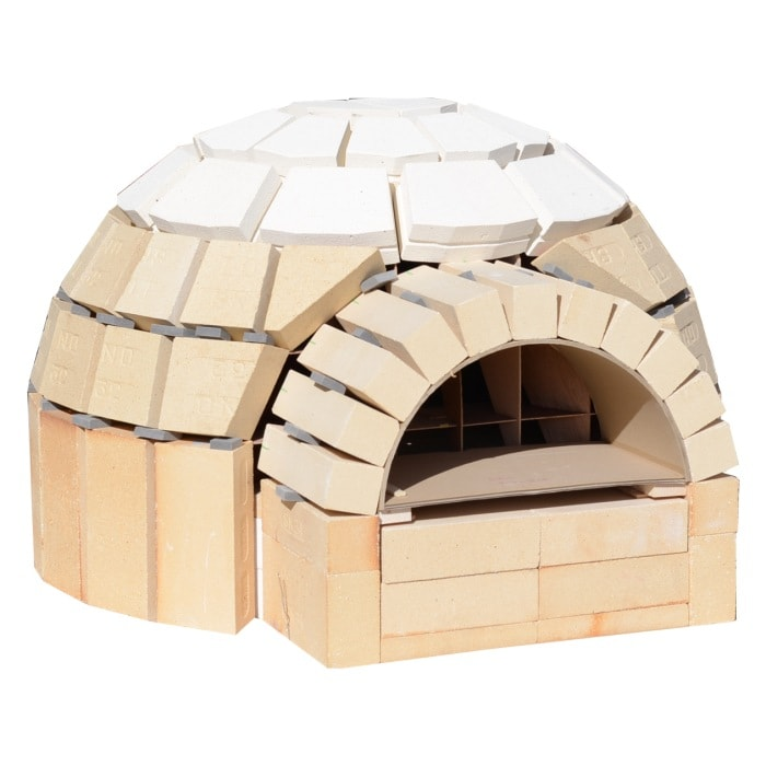 ピザ窯 ピザ窯キットD800 自分で作れる ドーム型ピザ窯 プロ仕様 ピザ窯DIY初心者大歓迎! はじめてでも積み木みたいに作れる 簡単作りやすい 食育 石窯 ピザ釜 耐火レンガ 自作