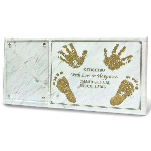赤ちゃん 手形 足形 天然大理石 メモリアル|オンリークラシカル|Baby Memorial デザイン名入れ・お誕生日・内祝い・出産祝いに最適♪【ラッピング無料】【名入れ対応】 02P05Nov16